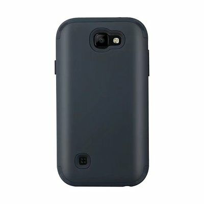 Black Shockproof Dual Layer Hybrid Rugged Cover Case for LG K3 2017