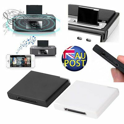 Bluetooth A2DP Music Receiver Adapter for iPod iPhone 30 Pin Dock Speaker AU
