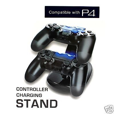 Unique LED Dual USB Controller Charger Stand Station Dock for PS4 Dualshock Kit