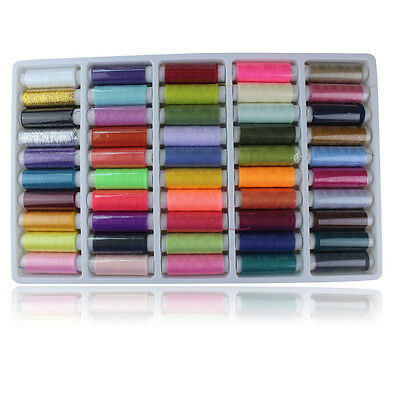 50 Colors Sewing Thread Polyester Embroidery Spools For Quilting DIY Craft