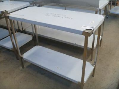 NEW COMMERCIAL STAINLESS STEEL (1100X500mm) GRADE 304 KITCHEN/PREP WORK BENCH
