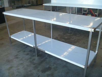 NEW COMMERCIAL STAINLESS STEEL (2300X650mm) GRADE 304 KITCHEN/PREP WORK BENCH