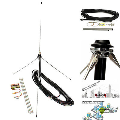 1/4 Wavelength GP Antenna 15M Cable Powerful For 0.5-30W Watt FM Transmitter