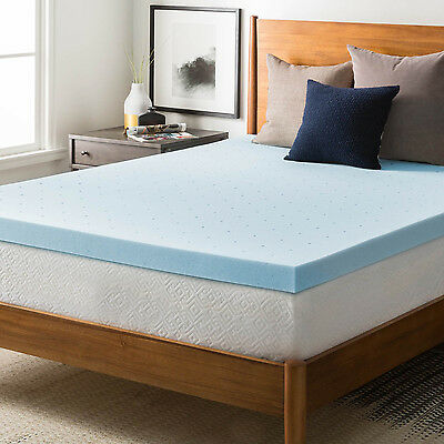 7CM Gel Infused Memory Foam Mattress Topper Bed Pad Protector or Mattress cover