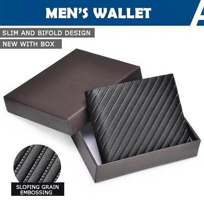 Mens Wallet PU Leather Credit ID Card Holder Genuine Slim Bifold Purse Business