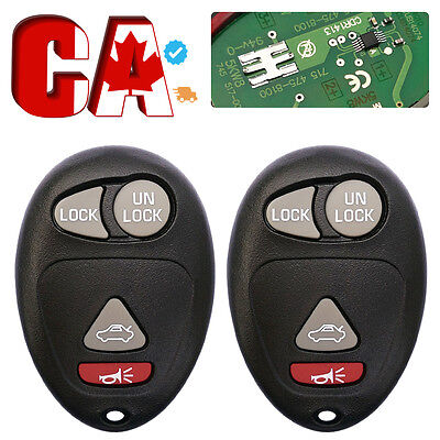 2PCS Replacement Remote Keyless Entry Key Fob Transmitter Clicker Control Alarm