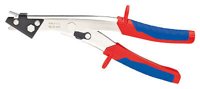 Knipex 9055280 Sheet Metal Nibbler Nickel Plated W/Multi-Component Grips 11 In