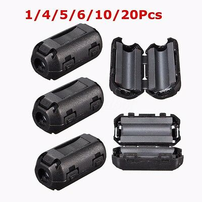 5mm Clip-on Noise Ferrite Core Ring Bead Filter RFI EMI Cable Clip