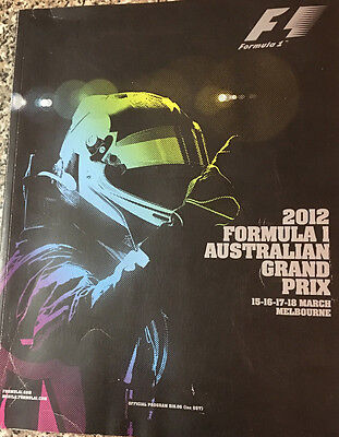 Foster'S F1 Australian Grand Prix 2012 Official Program