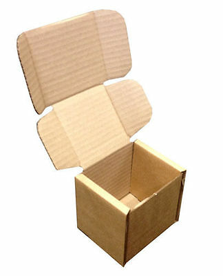 Small Brown PIP Die Cut Cardboard Postal Mailing Boxes 102mm x 102mm x 102mm