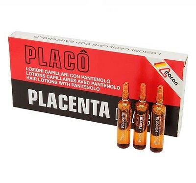 PLACENTA PLACO 12x10ml Ampoules For Hair Growth Treatment Against Hair Loss