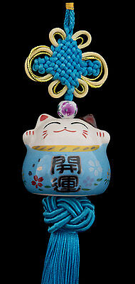 Suspension Maneki Neko-chat Japonais- Porte Bonheur-grand Modele -529-C3
