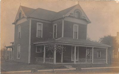 Indiana real photo postcard Coatesville, house residence ca 1908