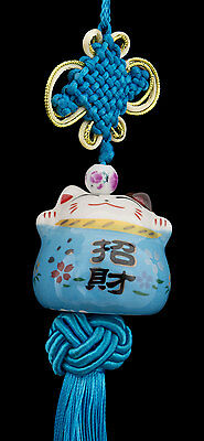 Suspension Maneki Neko-chat Japonais- Porte Bonheur-grand Modele -531- C5
