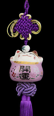 Suspension Maneki Neko-chat Japonais- Porte Bonheur-grand Modele -532-SD3