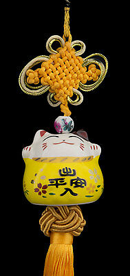 Suspension Maneki Neko-chat Japonais- Porte Bonheur-grand Modele -533-SD3
