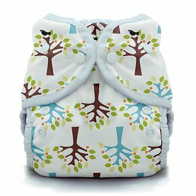 Thirsties Duo Wrap Snap Cloth Diaper Cover, Blackbird Trees, Size One, Boy Girl