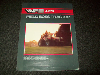Oliver White Tractor Field Boss 4-270 4X4 Brochure Literature Advertising