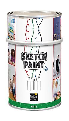 first4magnets KC-MAG1004-1 1 Litre Sketch Whiteboard Paint - White