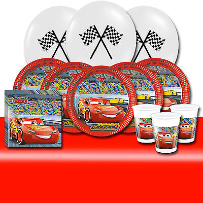 Disney Cars 3 Complete Party Supplies Kit For 8 or 16 Guests Lightning McQueen