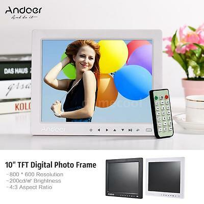 """10"""" HD Digital Photo Picture Frame Clock MP3/4 Movie Player+Remote Control D4S8"""