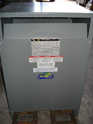 Square D 45T3Hee 45Kva Transformer 480-208Y/120