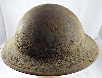 WWI US Army AEF 1917 Helmet Shell Doughboy Helmet Original