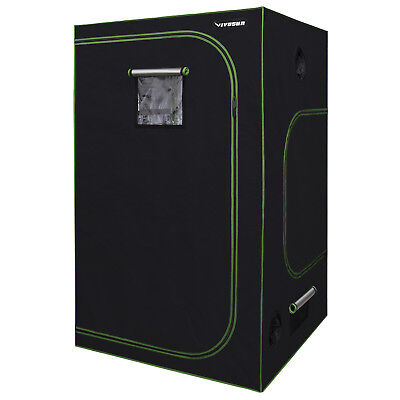 "VIVOSUN 48""x48""x80"" Indoor Hydroponics Mylar Grow Tent w/ Easy-view Window 4'x4'"