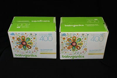 Babyganics Face, Hand, and Baby Wipes 800 Count (2 Cases of 4 100 Packs Each)