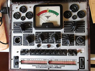 Precision Apparatus model 912 electronamic tube tester parts/restoration