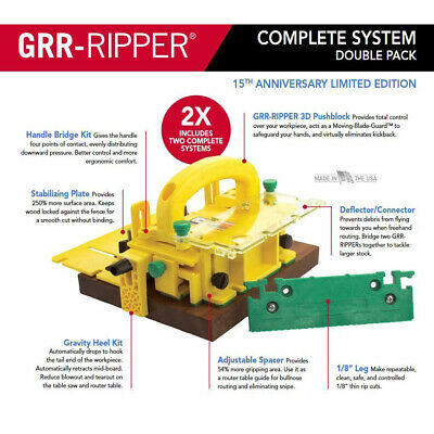 Micro Jig GRR-RIPPER 3D Pushblock Complete System Limited Edition (Double Pack)