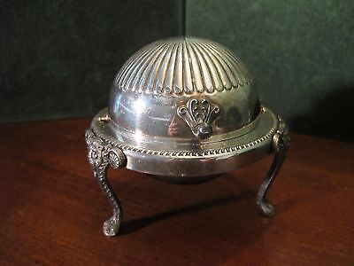 FB Rogers Bros Silver Co 1883 Three Footed Domed Butter Dish 273 Silverplated (R