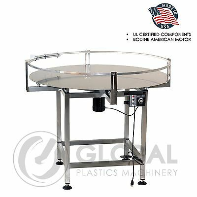"Globaltek Stainless Steel  36"" Dia.  Accumulating Rotary Table"