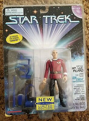 Playmates Star Trek Jean-Luc Picard Tapestry Limited Edition 1701 Figure MOC HTF