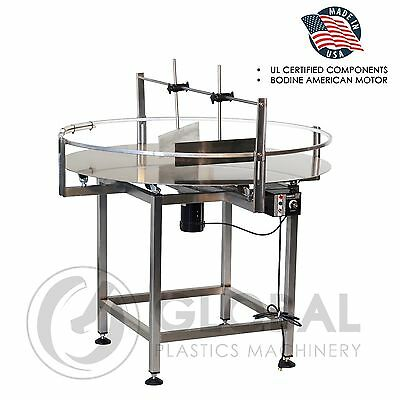 "Globaltek Stainless Steel 36"" Dia. Unscrambler Rotary Turn Table"