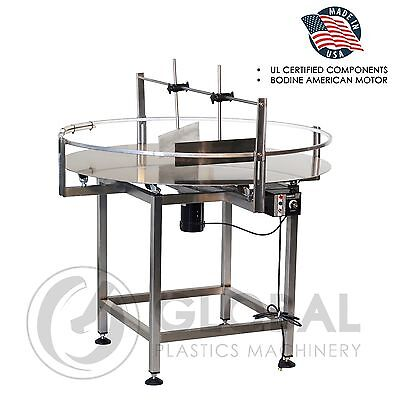 "Globaltek Stainless Steel 48"" Dia. Unscrambler Rotary Turn Table"