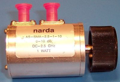 Step Attenuator Rotary 0-10dB 1dB steps 50-Ohm NARDA AS-SMA-2.5-1-10