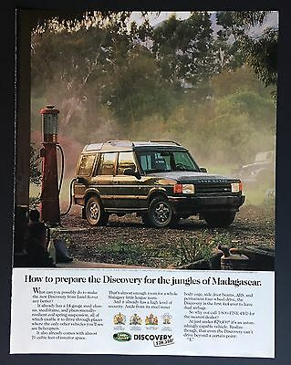 1994 Discovery Land Rover Discovery For The Jungles Of Madagascar Gas Pump Ad