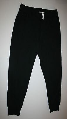 New H&M Black Jogger Style Sweatpants Size 12 13 Year NWT Draw String Pockets
