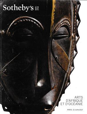 Sotheby's African Tribal Oceania Art Auction Catalog Paris June 2017