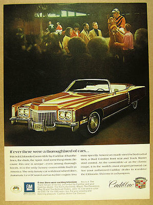 1972 Cadillac Eldorado Convertible brown bronze car photo vintage print Ad