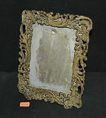 ThriftCHI ~ Vintage Rectangular Metal Picture Frame w Scroll Edge