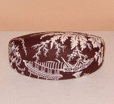 Vera Bradley Imperial Toile Brown Oriental Clamshell Sunglasses Hard Case New!