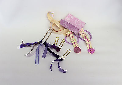 Page markers, planner clips, bookmark set, MAUVE