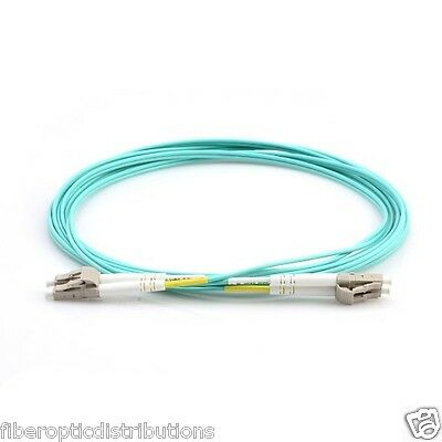 0.5m/1.65ft Duplex Multimode LC to LC Fiber Patch Cable -OM3 10GB Aqua