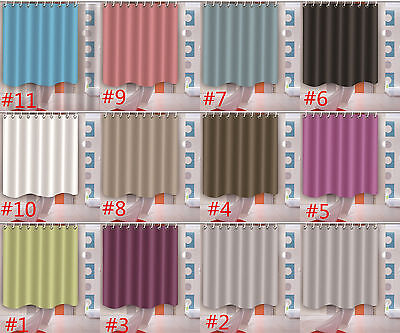 11 Type Solid Color Shower Curtain Bathroom Waterproof Fabric Home Decor Mat Set