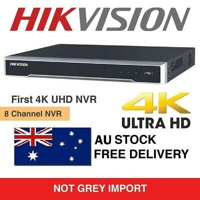 HIKVISION 4K UHD 8ch NVR DS-7608NI-K2/8P 8 POE PORTS CCTV 3 YEAR WARRANTY