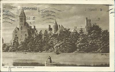 1922 Williamson Postcard - THE ABBEY, FORT AUGUSTUS, SCOTLAND