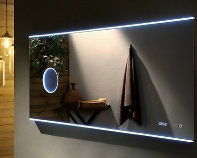 Led Bathroom Mirror With Magnifier Mirror 1200 X 700X30Mm