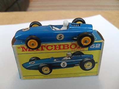 MATCHBOX LESNEY RW 1-75 No 52 BRM RACER VIRT MINT IN V GOOD NEAR EXCELLENT BOX